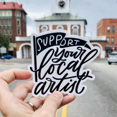 Artist outside